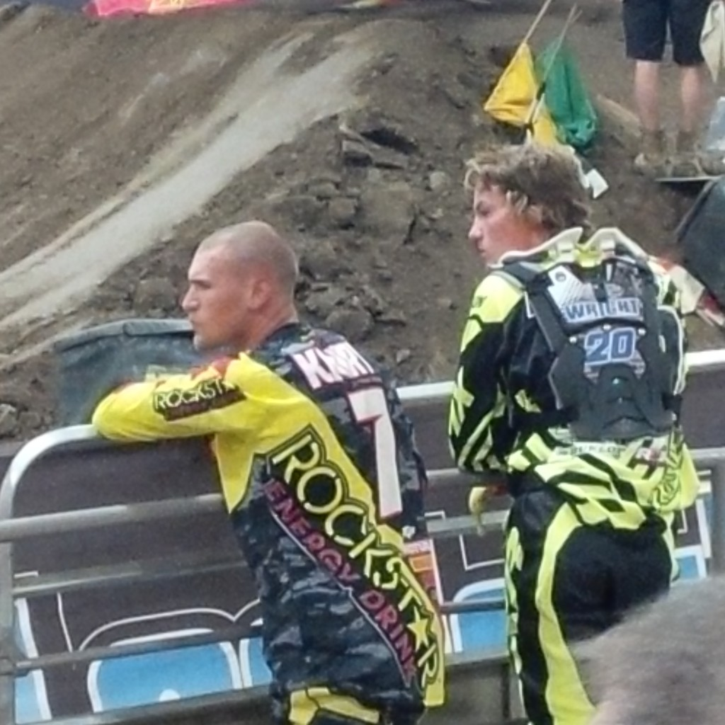 "AX - London - Dylan and Bobby K: ""Checking out the AX track with Bobby K. Thanks for all the tips and advice Bobby. You will be missed  in our sport for sure!"""